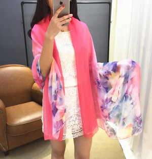 Twill silk scarf china