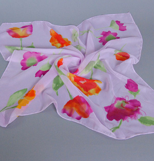 Chiffon square head scarves