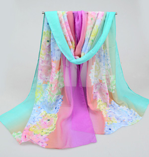 Wholesale silk scarf chiffon