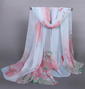 Lotus silk scarf wholesale