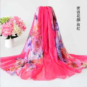 Wholesale Summer peony Women beach scarves