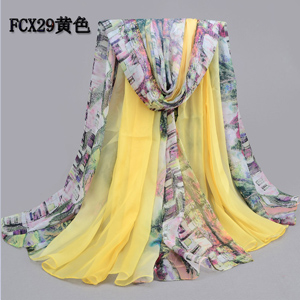 Wholesale women tree and sea beach scarves