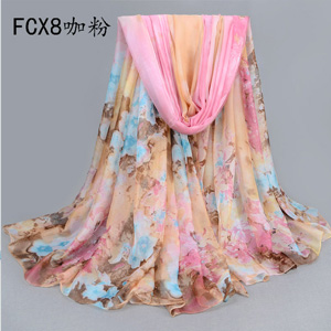 Wholesale Chinese rose pattern beach scarves