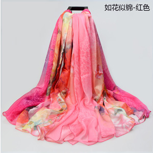 Wholesale rose feather beach scarves