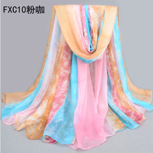 Wholesale pink chiffon women China beach scarves