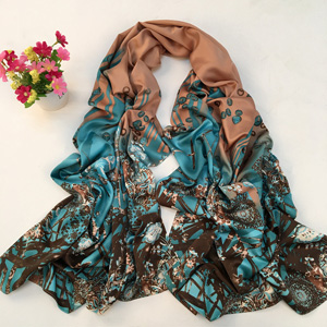 Wholesale Korea Garden silk scarves
