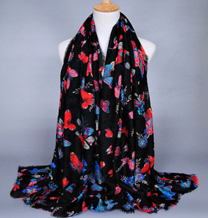 Wholesale butterfly scarf silk