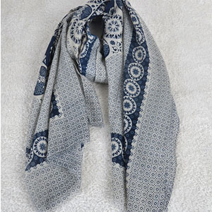 Digital printing women cotton scarf