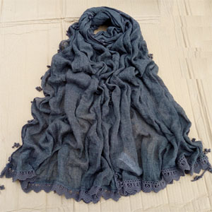 Wholesale 100% cotton women scarf