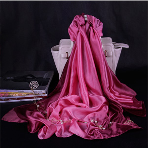 Italy Wholesale women 100% pure silk scarves