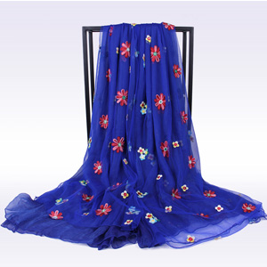 China Wholesale women embroidered scarves