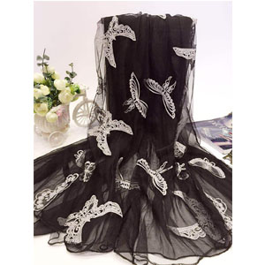 Korea butterfly women silk scarves