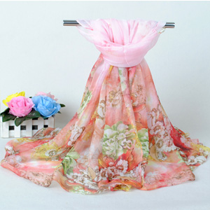 China summer peony wholesale women scarves