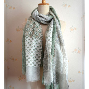 China wholesale cotton long pattern scarves