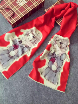 Beautiful girl Printing children imitation cashmere scarf wholesale