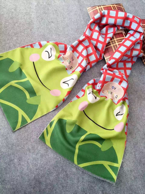 Children cartoon design frog pattern imitation cashmere scarf wholesale