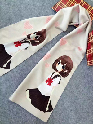 Children school girl pattern imitation cashmere scarf wholesale