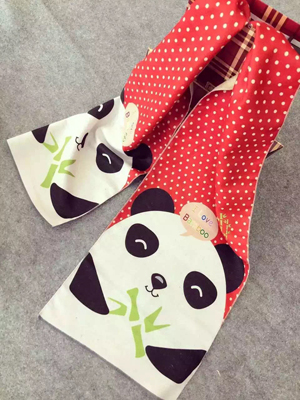 Children panda pattern imitation cashmere scarf wholesale