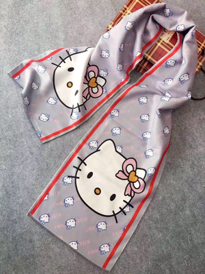Hello kitty pattern children imitation cashmere scarf wholesale