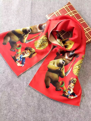 Bear cartoon design children imitation cashmere scarf wholesale