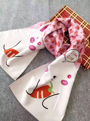 Rabbit pattern children imitation cashmere scarf wholesale