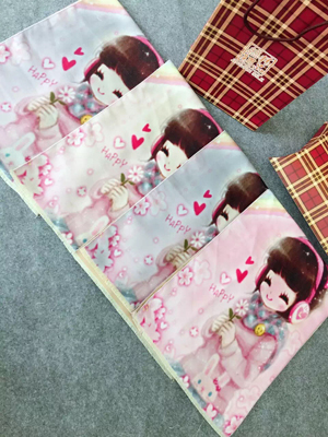 Girl pattern children imitation cashmere scarf wholesale