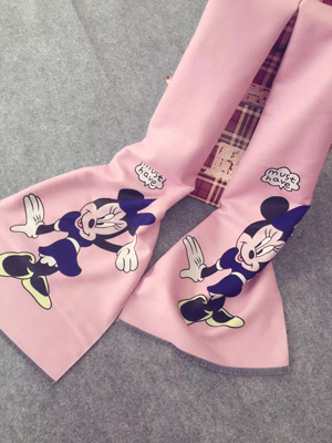 Mickey Mouse cartoon children imitation cashmere scarf wholesale