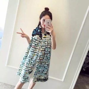 Female painting pattern cotton long scarf wholesale