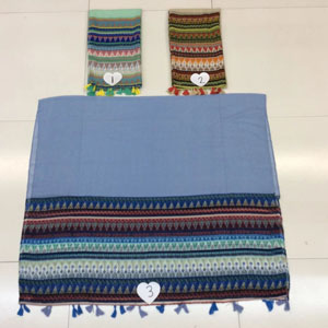 Female both sides diamond pattern cotton scarf wholesale