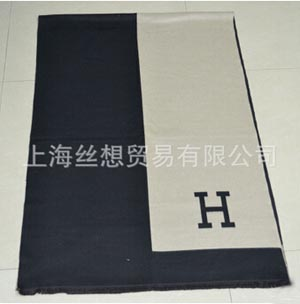 Double-sided cashmere feel super long thickening H word scarf wholesale