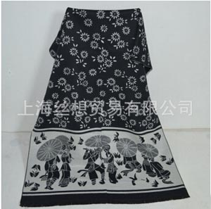 National wind cashmere dual-use large wool female scarf wholesale