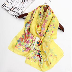 Rural wind colorful flowers pattern female scarf wholesale