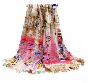 Fashion tower printed female scarf suet printed velvet scarf wholesale