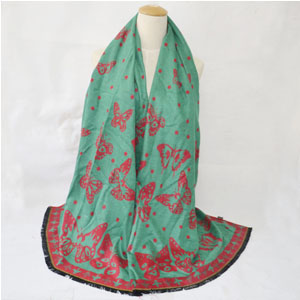 Butterfly cashmere women scarves for promotion