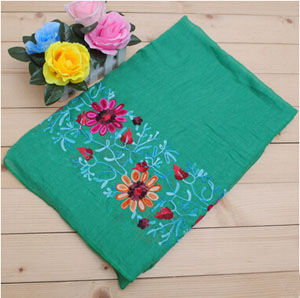 Female cotton and linen fabric long  scarf wholesale
