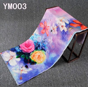 Female peony pure wool scarf shawl wholesale