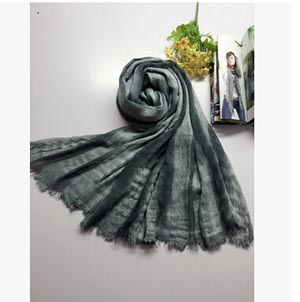 Literary pure fresh tie-dyed striped cotton female long shawl wholesale