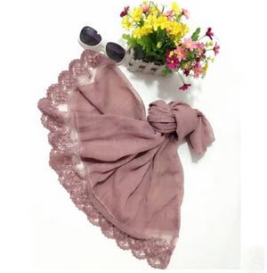 Lace cycling prevented bask cotton linen scarf women scarves wholesale