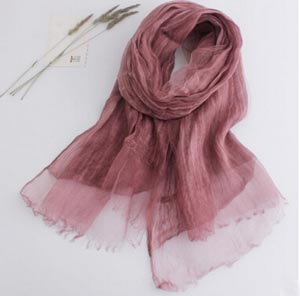 Pure evanescent hues linen changed scarf tie-dye plain scarves wholesale