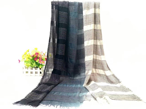 Double color female stitching cotton scarf wholesale