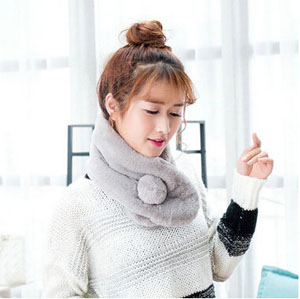 Imitation rabbit fur scarf plush ballwarm collar scarf wholesale
