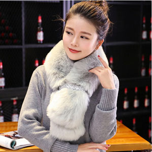 Fur scarf female rabbit hair warm scarf collar wholesale