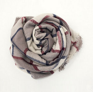 Double-sided grid square female scarf wholesale