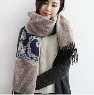 Jacquard female imitation cashmere scarf wholesale