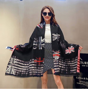 M design flag female thick winter cashmere shawl scarf wholesale