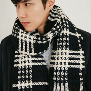 Man plaid long warm scarves shawls wholesale