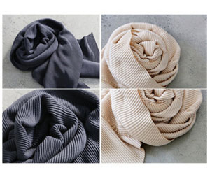 Crushed pure color female long imitation cashmere shawl wholesale