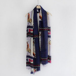 Hand-painted impression bird female scarf wholesale