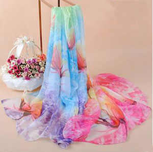 Dream flower long emulation silk scarves wholesale