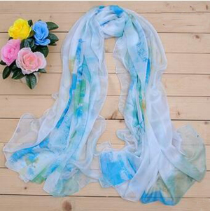 Crepe long emulation silk scarf wholesale